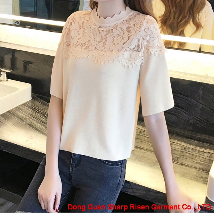 Lace Pullover sweate 1706022