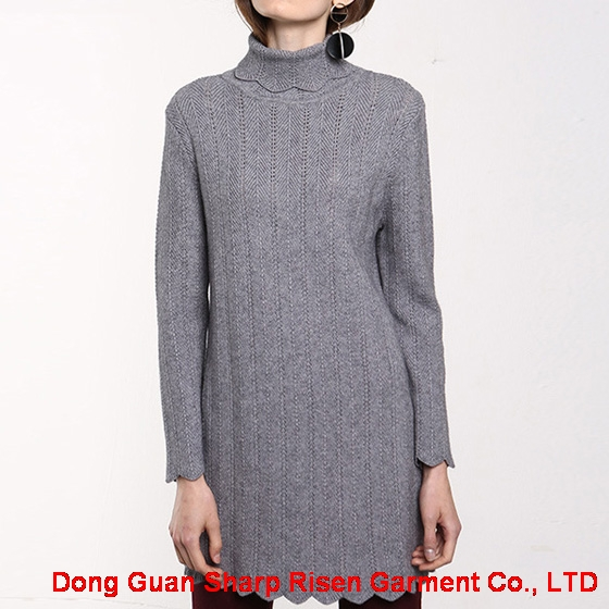 Flounce turtleneck dress 1706050