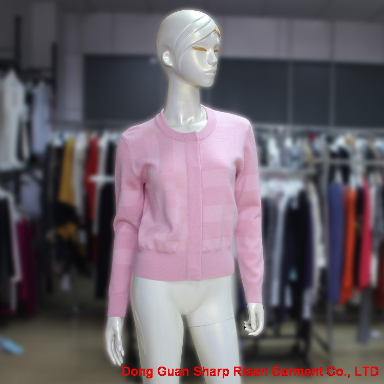 Pink Wool Knitted Cardigan Coat 170221
