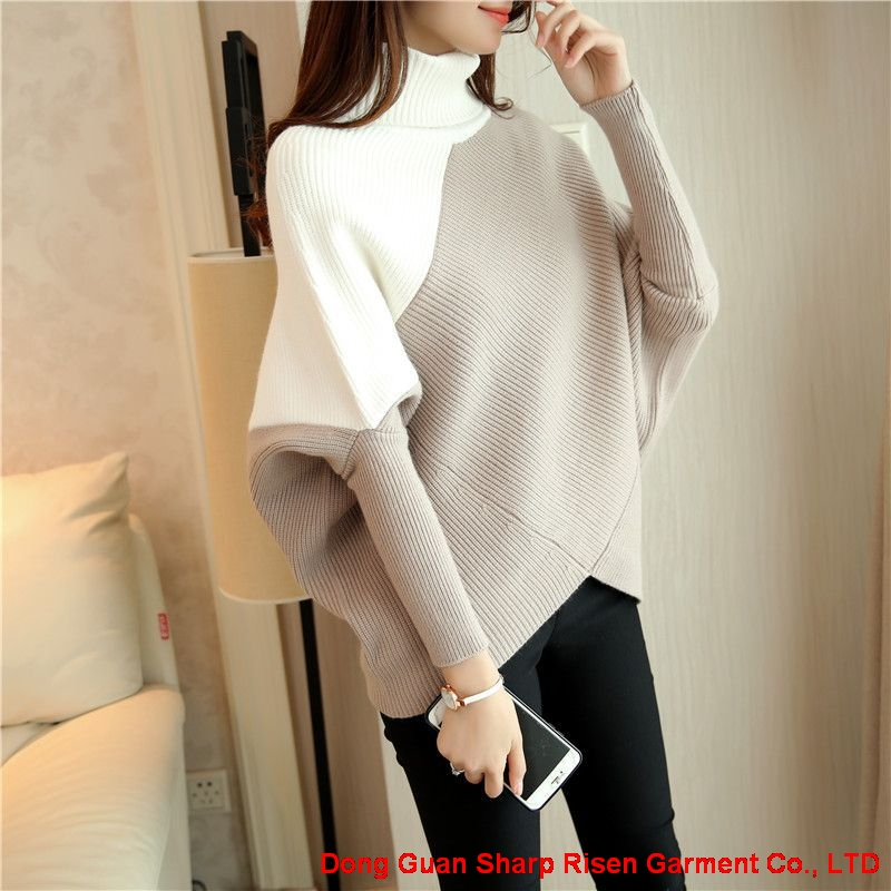 Turtleneck Easy knitting Pullovers  1706145