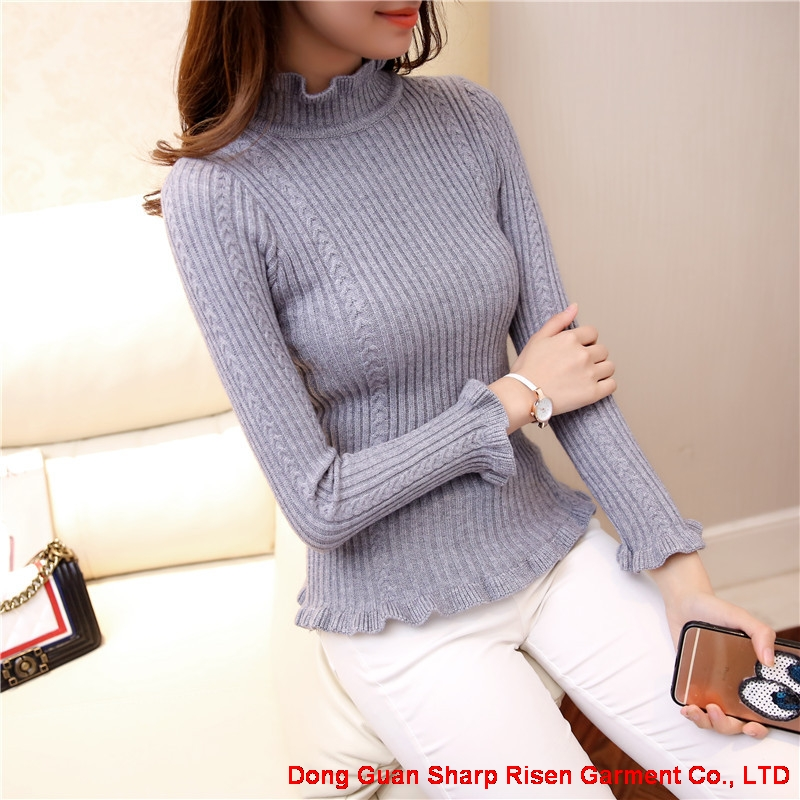 Lotus leaf Female knitting sweater 1706176
