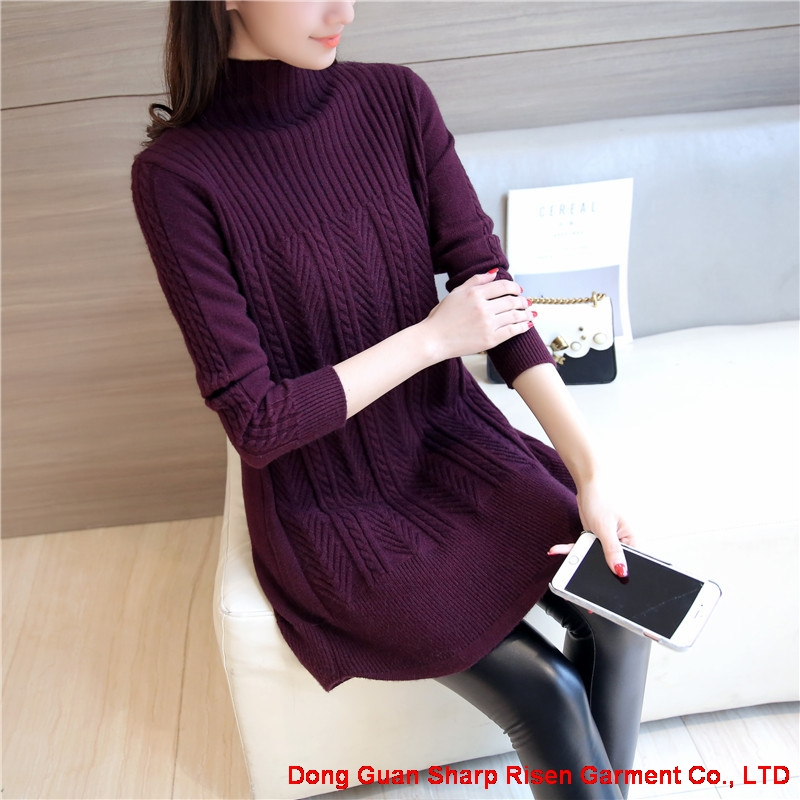 Long thick knitted pullovers 1706188