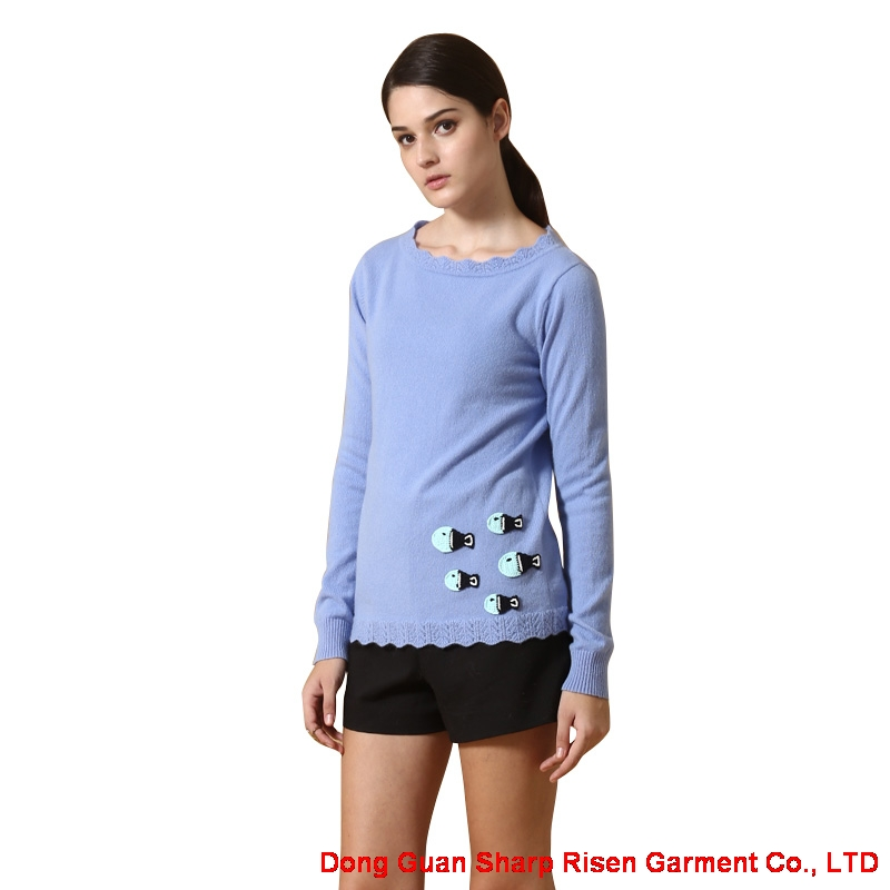 Round Neck Cashmere Sweater Y017