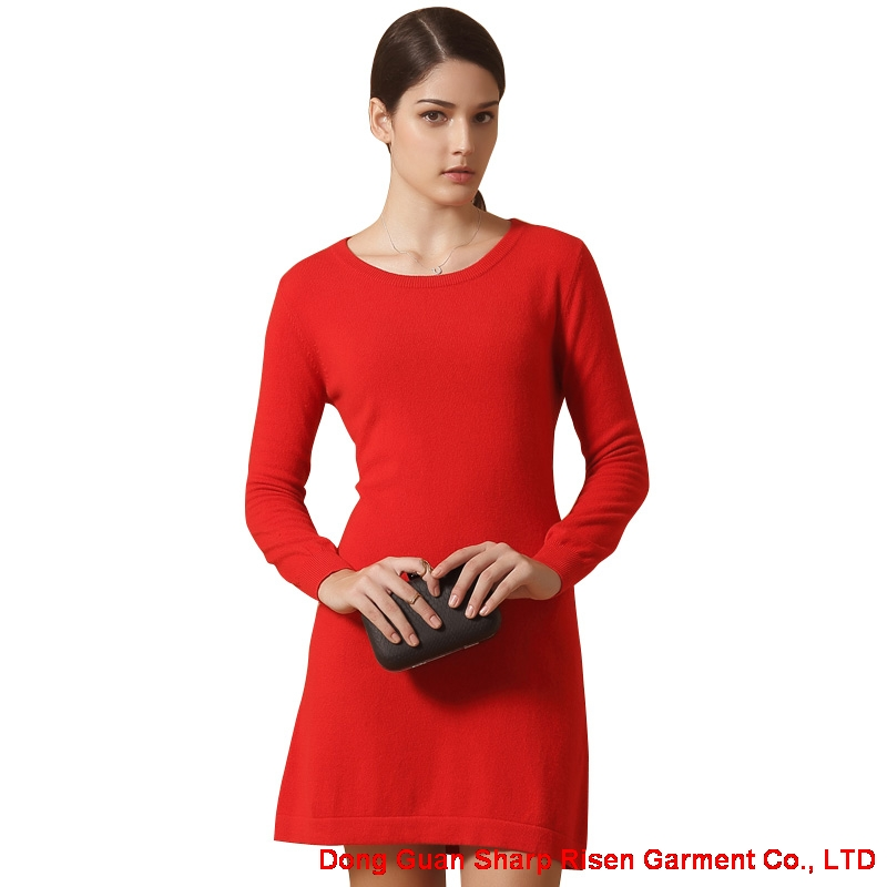Womens Cashmere Sweater Dress Y015