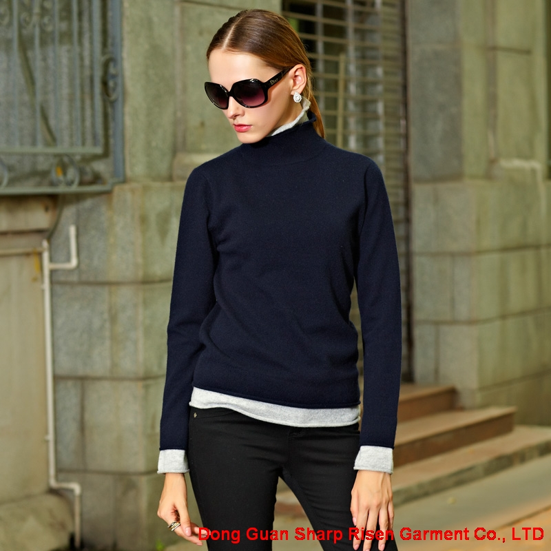 Two Colours Cashmere Sweater Y011