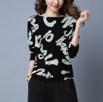 Letter printing ladies sweater 1708046