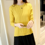 Hollow women's knitted sweater 1708033