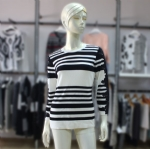 Black/White Stripes Pullover Sweater 1705023