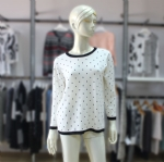 Polka Dot Print Sweater For Women 1705016