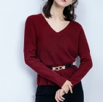 Waist V collar female sweater 1706029