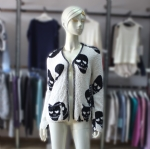 Lady 100% Cotton Skull Cardigan 161229