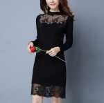 Lace sweater dress 1706055