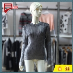 Gold Stamping Pullover Rib Sweater 1704024