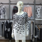 Womens Leopard Print Knit Dress 07-2728