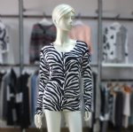 Womens Zebra Cardigan Print Sweater 1704041