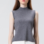 Turtleneck Knitted vest 1706135