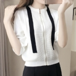 Breathable zipper cardigan sweater 1706144