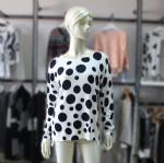Womens Circle Dot Print Sweater 16183