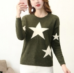 Star pattern knitted sweater 1706147