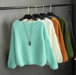 Autumn and winter simple knitted pullovers 1706148