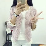 Thermal knitted cardigan 1706168
