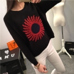 The sun pattern knitted pullover 1706173