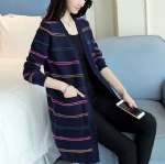 Color stripes long cardigan 1706187