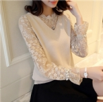 Beaded lace knitted pullover 1706189