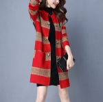 Warm winter lengthened female cardigan 1706196
