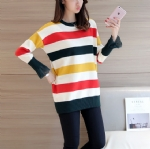 Autumn color stripes pullovers 1706224