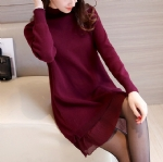 Lace knitted sweater dress 1706232