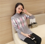 Autumn Turtlenecks Lengthened sweater 1706234