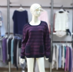 Ladies Pinstripe Pullover Sweater 170387