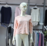 Round Neck Short Pattern Pullover 170393