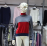Ladies fashion Color Block Sweater 170384