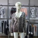 Leopard Print Sweater Cardigan 1703137
