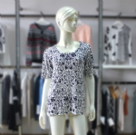 Scoop Neck Printed Pullover MKSP001