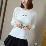 Autumn pure color ladies sweater 1706253
