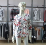Women Casual Sweater In Floral Print RT027