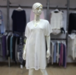 Short Sleeve Transparent Dress For Ladies 170374