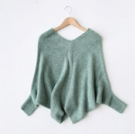 Classic V collar Mohair Pullovers 1709299