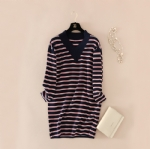 Long striped pullovers 1706307
