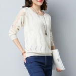 Spring ladies lace sweater 1708001
