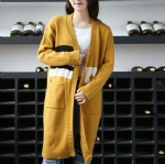 Long all-match loose sweater Cardigan 1708016