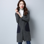 Winter knitted ladies coat 1708028