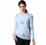 Crew Neck Jacquard  Cashmere Sweater Y019