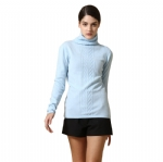 Womens Turtleneck Cashmere Sweater Y016