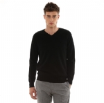 Basic V Neck Cashmere Sweater For Men Y004