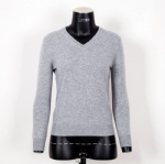 Basic V Neck Cashmere Sweater C601